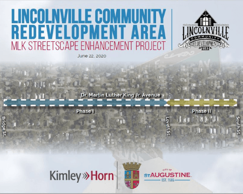 lincolnville community redevelopment area mlk streetscape enhancement program