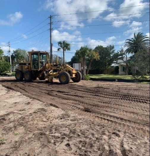 image of dirt grading at Coquina Park