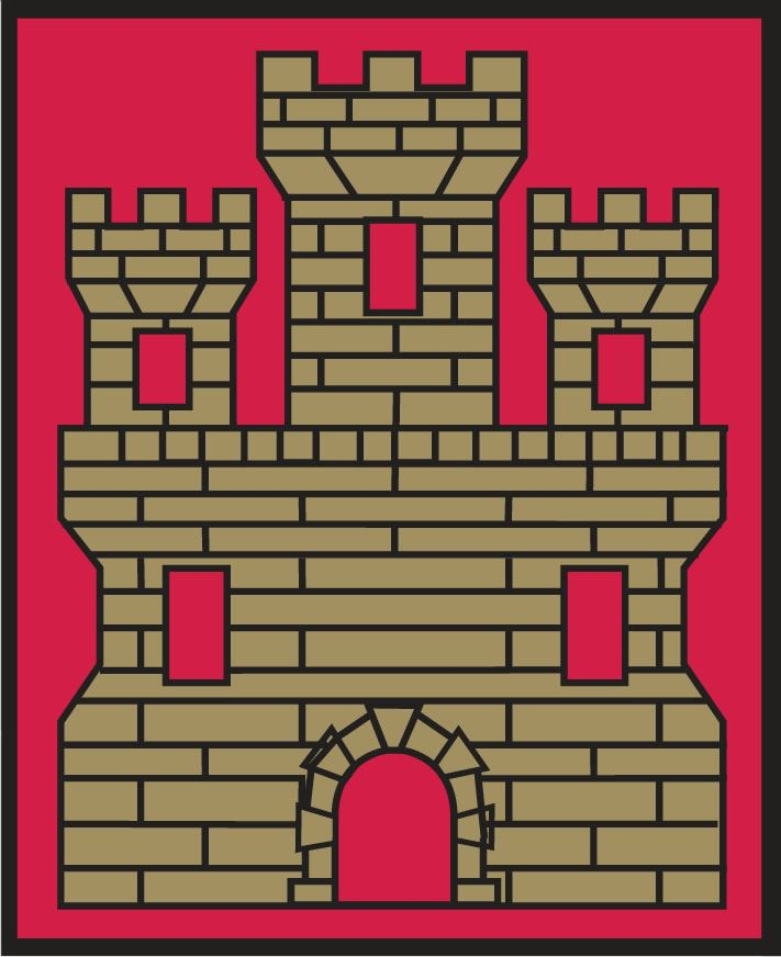 Image of the upper right quadrant of city crest with golden castle