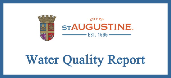 Water Quality Report City of St. Augustine Report Opens in new window