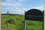 Dr. Robert B. Hayling Freedom Park Sign